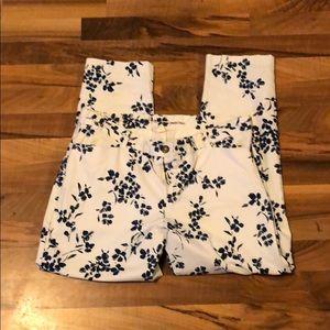 Floral khakis by Gap